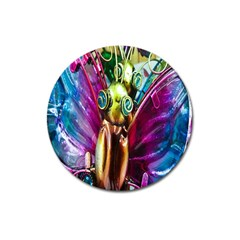 Magic Butterfly Art In Glass Magnet 3  (Round)