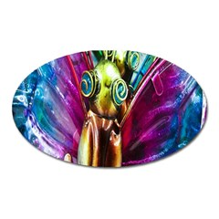 Magic Butterfly Art In Glass Oval Magnet