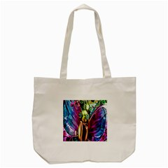 Magic Butterfly Art In Glass Tote Bag (Cream)