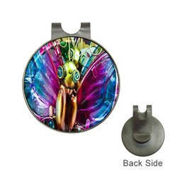 Magic Butterfly Art In Glass Hat Clips With Golf Markers