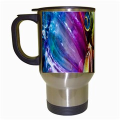 Magic Butterfly Art In Glass Travel Mugs (white)