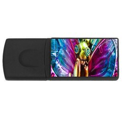 Magic Butterfly Art In Glass USB Flash Drive Rectangular (4 GB)