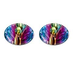 Magic Butterfly Art In Glass Cufflinks (Oval)