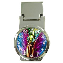 Magic Butterfly Art In Glass Money Clip Watches