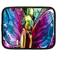 Magic Butterfly Art In Glass Netbook Case (large)