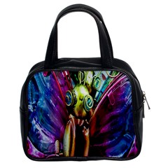 Magic Butterfly Art In Glass Classic Handbags (2 Sides)