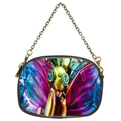 Magic Butterfly Art In Glass Chain Purses (Two Sides)