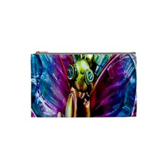 Magic Butterfly Art In Glass Cosmetic Bag (small)