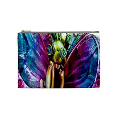 Magic Butterfly Art In Glass Cosmetic Bag (Medium)