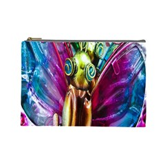 Magic Butterfly Art In Glass Cosmetic Bag (large)
