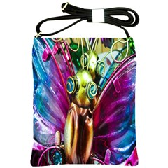 Magic Butterfly Art In Glass Shoulder Sling Bags