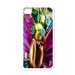 Magic Butterfly Art In Glass Apple iPhone 4 Case (White)