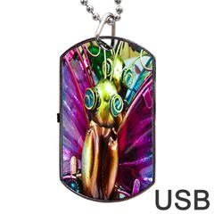 Magic Butterfly Art In Glass Dog Tag USB Flash (Two Sides)