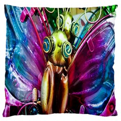 Magic Butterfly Art In Glass Large Cushion Case (Two Sides)