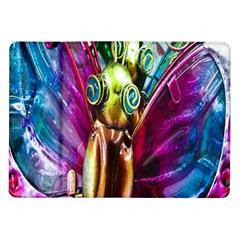 Magic Butterfly Art In Glass Samsung Galaxy Tab 10.1  P7500 Flip Case
