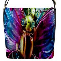 Magic Butterfly Art In Glass Flap Messenger Bag (S)