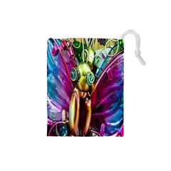 Magic Butterfly Art In Glass Drawstring Pouches (small)
