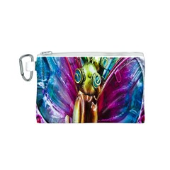 Magic Butterfly Art In Glass Canvas Cosmetic Bag (S)