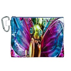 Magic Butterfly Art In Glass Canvas Cosmetic Bag (XL)