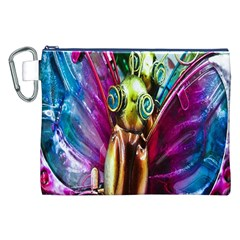 Magic Butterfly Art In Glass Canvas Cosmetic Bag (xxl)