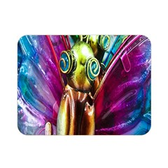 Magic Butterfly Art In Glass Double Sided Flano Blanket (Mini)
