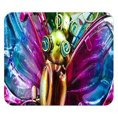 Magic Butterfly Art In Glass Double Sided Flano Blanket (Small)