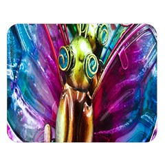 Magic Butterfly Art In Glass Double Sided Flano Blanket (Large)
