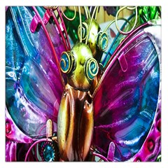 Magic Butterfly Art In Glass Large Satin Scarf (Square)