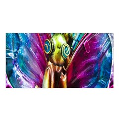 Magic Butterfly Art In Glass Satin Shawl