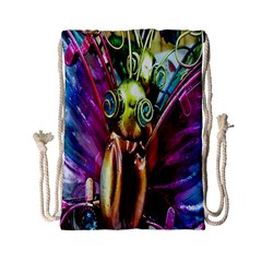 Magic Butterfly Art In Glass Drawstring Bag (Small)