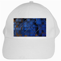 Glass Abstract Art Pattern White Cap