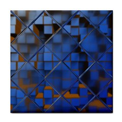 Glass Abstract Art Pattern Tile Coasters