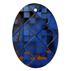 Glass Abstract Art Pattern Ornament (Oval)