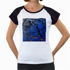 Glass Abstract Art Pattern Women s Cap Sleeve T