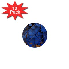 Glass Abstract Art Pattern 1  Mini Buttons (10 pack)