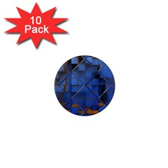 Glass Abstract Art Pattern 1  Mini Magnet (10 Pack)