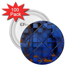 Glass Abstract Art Pattern 2.25  Buttons (100 pack)