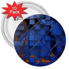 Glass Abstract Art Pattern 3  Buttons (10 pack)