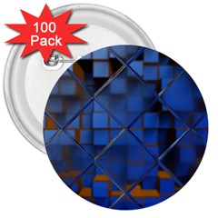 Glass Abstract Art Pattern 3  Buttons (100 pack)