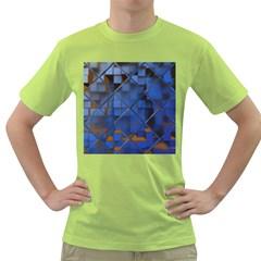 Glass Abstract Art Pattern Green T-Shirt