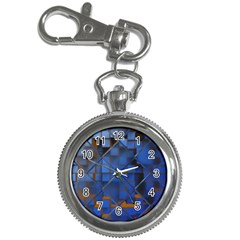 Glass Abstract Art Pattern Key Chain Watches
