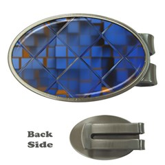 Glass Abstract Art Pattern Money Clips (Oval)