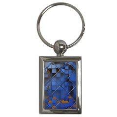 Glass Abstract Art Pattern Key Chains (rectangle)