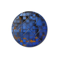 Glass Abstract Art Pattern Magnet 3  (round)