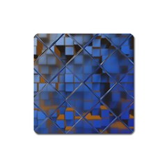 Glass Abstract Art Pattern Square Magnet