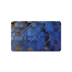 Glass Abstract Art Pattern Magnet (name Card)
