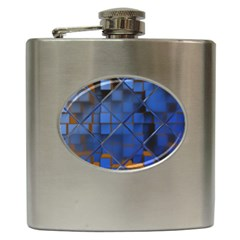 Glass Abstract Art Pattern Hip Flask (6 oz)