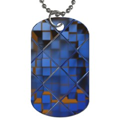 Glass Abstract Art Pattern Dog Tag (two Sides)