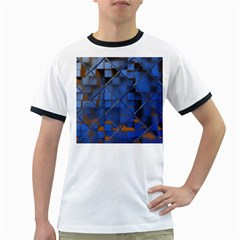 Glass Abstract Art Pattern Ringer T Shirts