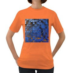 Glass Abstract Art Pattern Women s Dark T-Shirt